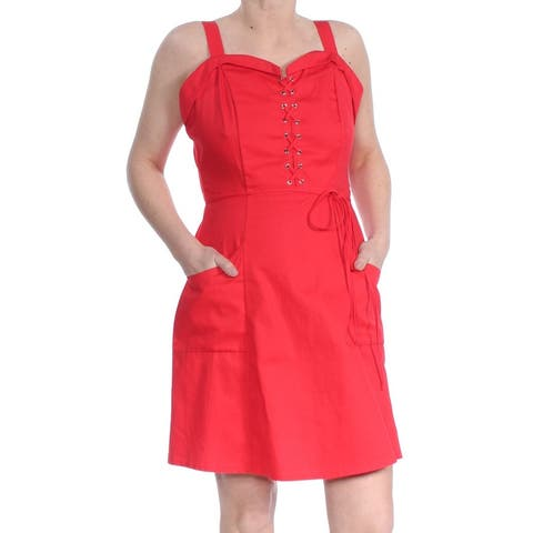 XOXO Red Sleeveless Above The Knee Fit + Flare Dress Size S