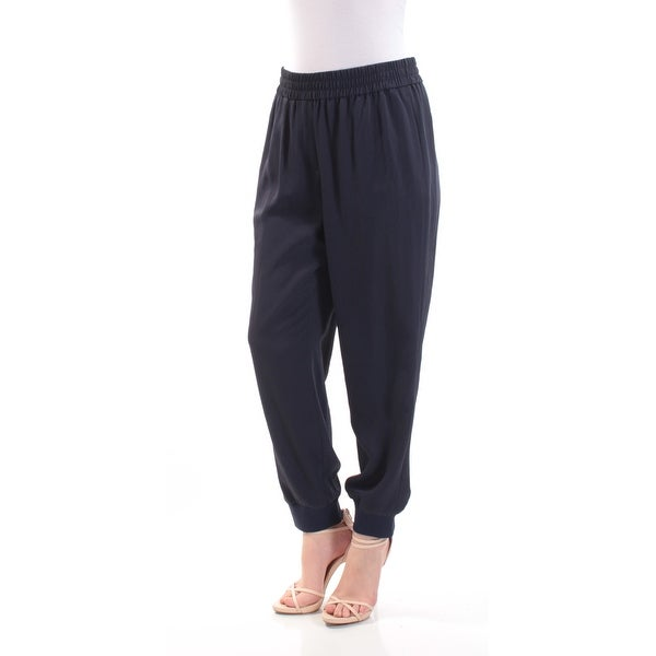 e153a835f8fa88 Shop DKNY Womens Navy Harem Pants Size: M - On Sale - Free Shipping On  Orders Over $45 - Overstock - 21348568