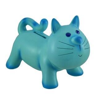 Jewel Eyed Cartoon Cat Coin Bank