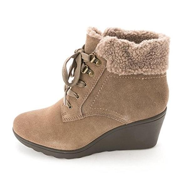 White Mountain Womens Kipper Suede Faux Fur Winter Boots - 9.5 medium (b,m)