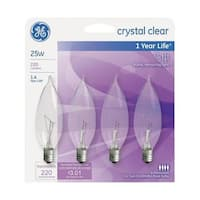 G.E. Lighting 76234 25 Watt Decorative Incandescent Bulb - pack of 4
