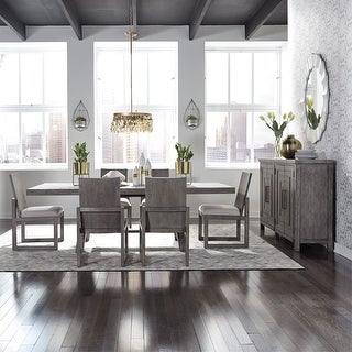 Link to The Gray Barn Hammond Mill 7-pc. Modern Farmhouse Trestle Table Set Similar Items in Dining Room & Bar Furniture