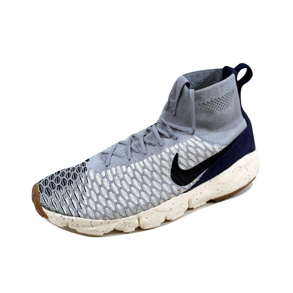 Nike Men's Air Footscape Magista Flyknit Wolf Grey/Black-Sail-Dark Obsidian 816560-001 Size 11