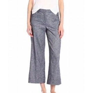 Theory NEW Blue Womens Size 8 Capri Fout-Pocket Chambray Casual Pants