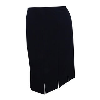 Kasper Women's Fringe Slit Pencil Skirt - Black