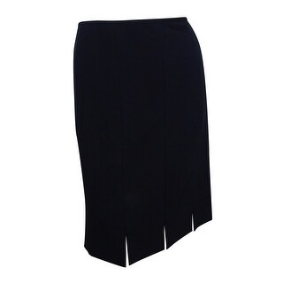 Kasper Women's Petite Fringe Slit Pencil Skirt (6P, Black) - Black - 6P