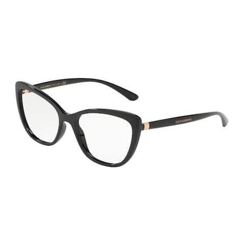 Dolce & Gabbana DG5039 Women's Black Frame Demo Lens Eyeglasses