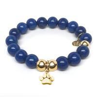 Julieta Jewelry Paw Charm Blue Jade Bracelet