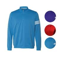adidas Men's Climalite 3-Stripe French Terry 1/4 Zip Pullover