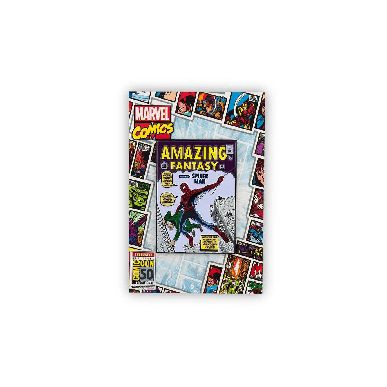 Marvel Comics Spider Man Comic Pin | Exclusive Oversize Enamel Spider Man Pin Multi Colored