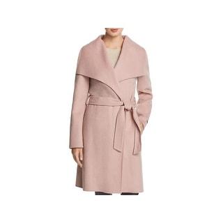Tahari Womens Ellie Wrap Coat Winter Wool