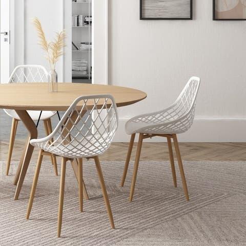 Carson Carrington Tackbyn Mid-Century Curved Dining Chair (Set of 2)