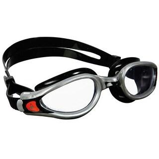 Aqua Sphere Kaiman EXO Clear Lens Swim Goggles - Black/Silver