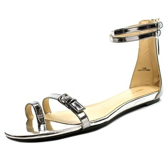 Nine West Onque Women  Open Toe Synthetic Silver Gladiator Sandal