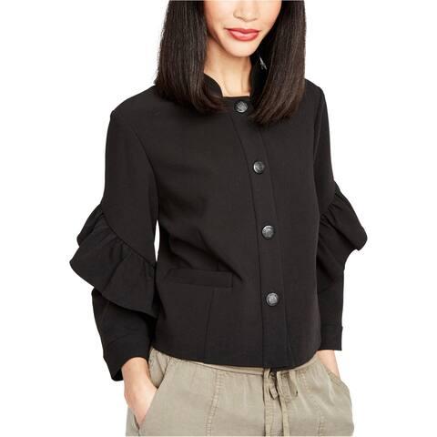 Rachel Roy Womens Ruffled Jacket