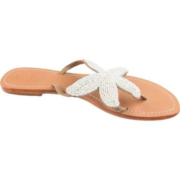 56b8fe9412a52 Shop Aspiga Women s Starfish Beaded Sandal White Natural Leather - Free  Shipping Today - Overstock - 17733566
