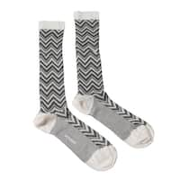 Missoni GM00CMD5458 0004 Gray/Eggshell Knee Length Socks - Grey