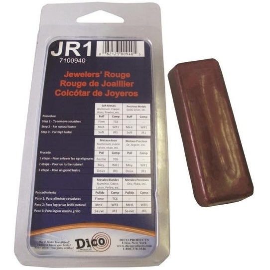 Dico Products 7100940(JR1) Jewelers Rouge Buffing Compound, Red, 4-1/2 Oz
