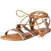 Qupid Womens Archer Open Toe Casual Gladiator Sandals