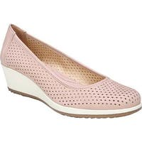 Naturalizer Women's Betina 2 Wedge Pump Vintage Mauve Leather