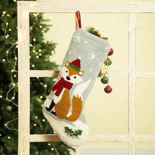 Link to Glitzhome Christmas Warm Hooked Stocking Similar Items in Christmas Decorations