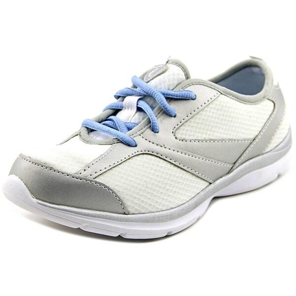 Easy Spirit e360 Fun Runner Women W Round Toe Canvas White Walking Shoe