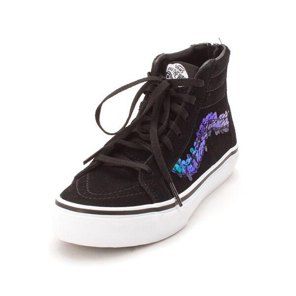 97ec6418a1 Kids Vans Girls SK8-HI Zip (Sequi Hight Top Lace Up Fashion Sneaker -