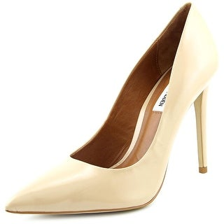 Steve Madden Proto-S Women Pointed Toe Leather Nude Heels