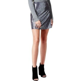 Kensie Womens Mini Skirt Sequined Pull On