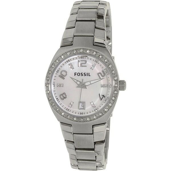 8b45523d Fossil Women's Flash Silver Stainless-Steel Analog Quartz Fashion Watch