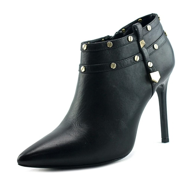Charles David Cathy Women Pointed Toe Leather Black Ankle Boot