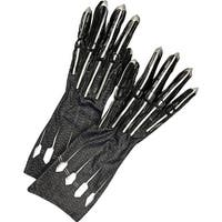 Adult Deluxe Black Panther Costume Gloves - standard - one size