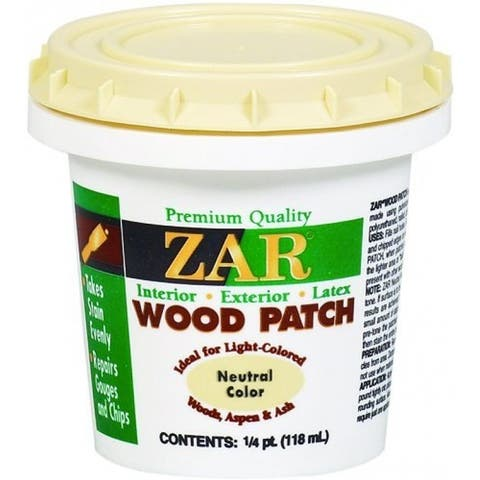 ZAR 30904 Interior/Exterior Latex Neutral Wood Patch, 1/4 Pt