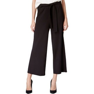 Kensie Womens Wide Leg Pants Cropped Flat Front - L