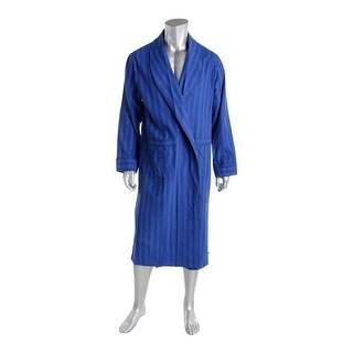 Noble Mount Mens Long Robe Flannel Herringbone - S/M