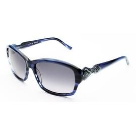 Judith Leiber Women's Persia Sunglasses Sapphire - Small
