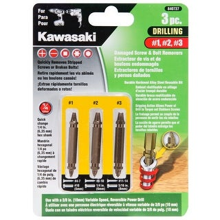 Kawasaki 3 Piece Damaged Screw Extractor and Remove Set - 840737