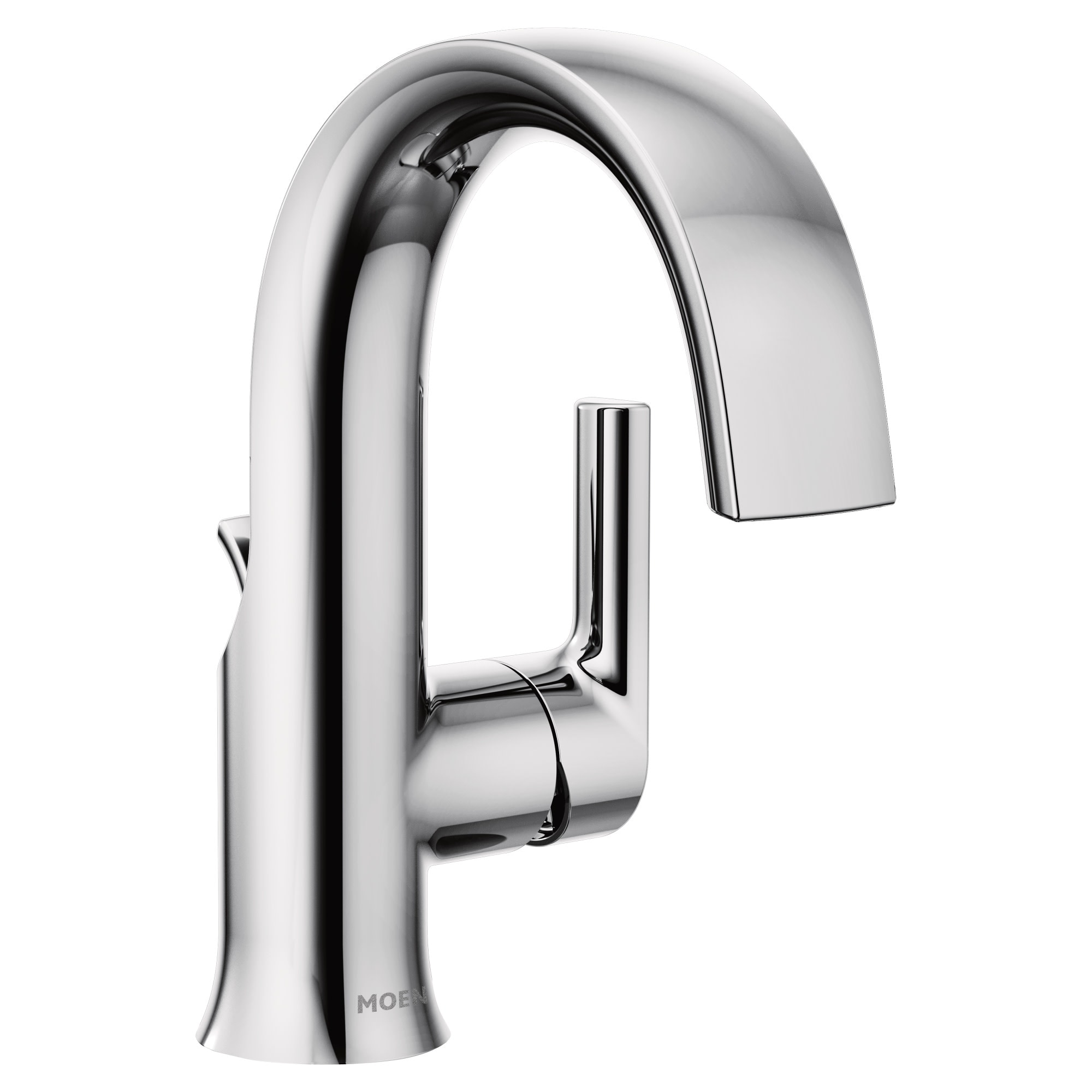 Moen S6910 Doux 1 2 Gpm Single Hole Bathroom Faucet With Pop Up Drain Overstock 25655801
