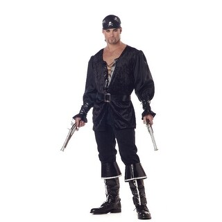California Costumes Blackheart Pirate Adult Costume - Black