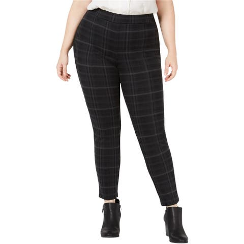 Style & Co. Womens Seam-Front Casual Leggings, black, 20W