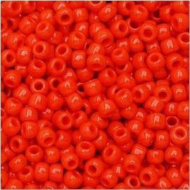 Toho Round Seed Beads 8/0 50 'Opaque Sunset Orange' 8 Gram Tube