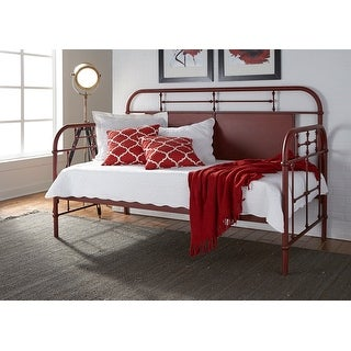 Link to Carbon Loft Cauthen Vintage Series Red Twin Metal Day Bed Similar Items in Kids' & Toddler Furniture