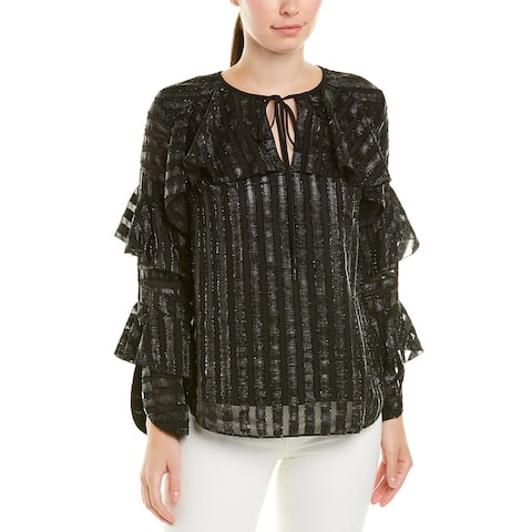 Elie Tahari Silk-Trim Top