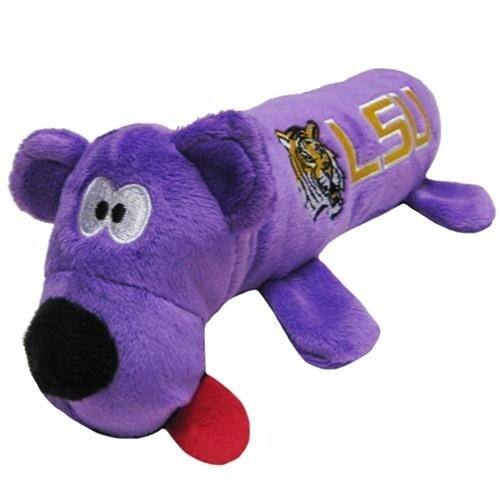 Shop Lsu Tigers Plush Tube Pet Toy Free Shipping On Orders Over