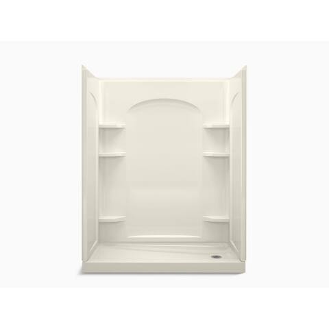 "Sterling 72170126 Ensemble 60"" L x 30"" W Vikrell Shower Enclosure with Right Hand Drain and Age in Place Backers"