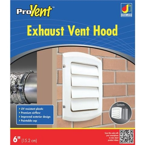 "Dundas Jafine 6""Wht Louvered Vent Hood BLH6WZW Unit: EACH"