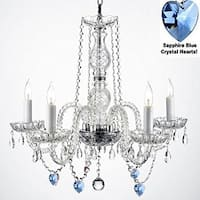 Authentic Empress Crystal Chandelier Lighting With Crystal Hearts