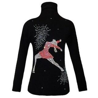 Ice Fire Skate Wear Black Jacket Ina Bauer Applique Girl 4-Women L