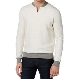 Tommy Hilfiger Snow White Mens Size XL Pullover 1/2 Zip Sweater