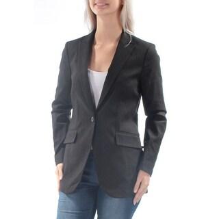Womens Black Wear To Work Blazer Jacket Size 6